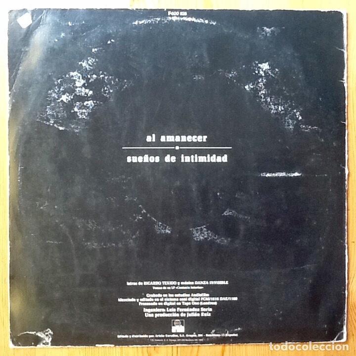 Discos de vinilo: DANZA INVISIBLE : AL AMANECER [ESP 1983] - Foto 2 - 94016810