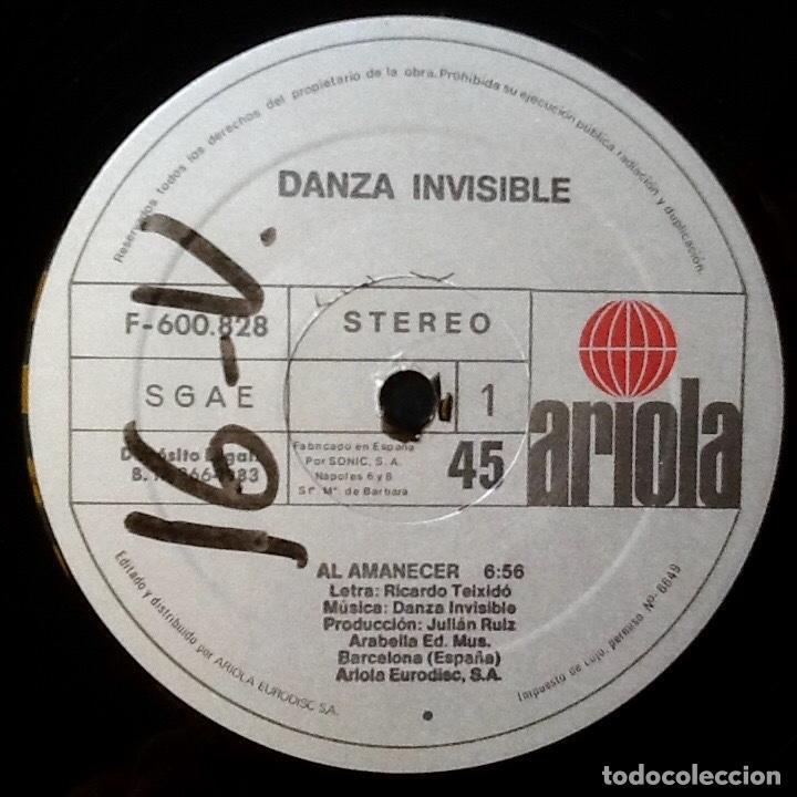 Discos de vinilo: DANZA INVISIBLE : AL AMANECER [ESP 1983] - Foto 3 - 94016810