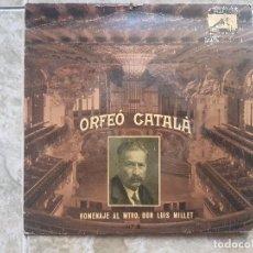 Discos de vinilo: ORFEO CATALA - HOMENAJE AL MTRO. DON LUIS MILLET . Lote 94023110