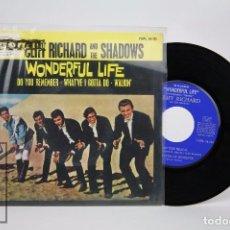 Discos de vinilo: DISCO EP DE VINILO - CLIFF RICHARD / THE SHADOWS. PELÍCULA WONDERFUL LIFE - EMI, 1964. Lote 94023485