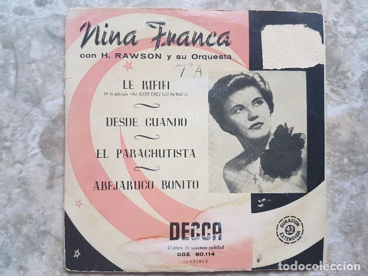 NINA FRANCA - LE RIFIFI +3 (Música - Discos de Vinilo - EPs - Rock & Roll)