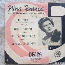 Discos de vinilo: NINA FRANCA - LE RIFIFI +3 . Lote 94024865