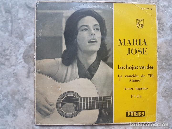MARIA JOSE - LAS HOJAS VERDES +3 (Música - Discos de Vinilo - EPs - Solistas Españoles de los 50 y 60)