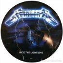 Discos de vinilo: METALLICA LP RIDE THE LIGHTNING PICTURE DISC CON PORTADA TROQUELADA. Lote 160989945