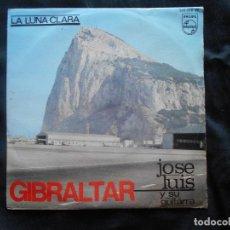 Discos de vinilo: JOSE LUIS Y SU GUITARRA // GIBRALTAR - LA LUNA CLARA. Lote 94062825