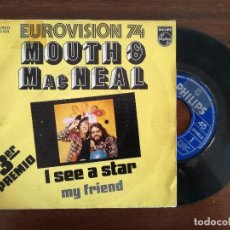 Discos de vinilo: MOUTH & MACNEAL, I SEE A STAR (PHILIPS) SINGLE PROMOCIONAL ESPAÑA - EUROVISION 1974. Lote 94066655