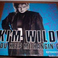 Discos de vinilo: MAXI-SINGLE DE KIM WILDE, YOU KEEP ME HANGING' ON. EDICION MCA DE 1986 (USA). D.. Lote 94076535