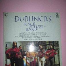 Discos de vinilo: LP-DOBLE-DUBLINERS.-´BLACK VELVET BAND´-ENGLAND-1989-24 TEMAS-VINILOS SIN USAR-VER FOTOS. Lote 94081095