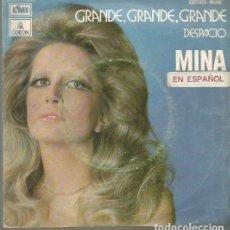 Discos de vinilo: MINA CANTA EN ESPAÑOL SINGLE SELLO EMI-ODEON AÑO 1972 EDITADO EN ESPAÑA. Lote 94084930