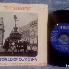 Discos de vinilo: EP - THE SEEKERS - A WORLD OF OUR OWN / I'LL NEVER FIND ANOTHER YOU + 2 - SPANISH 1965. Lote 94086510