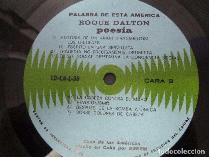 Discos de vinilo: ROQUE DALTON. POESIA. PALABRA DE ESTA AMERICA. CASA DE LAS AMERICAS. 1980. DISCO DE VINILO - Foto 2 - 172253385