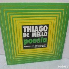 Discos de vinilo: THIAGO DE MELLO. POESIA. PALABRA DE ESTA AMERICA. CASA DE LAS AMERICAS. 1980. DISCO VINILO. Lote 94097570