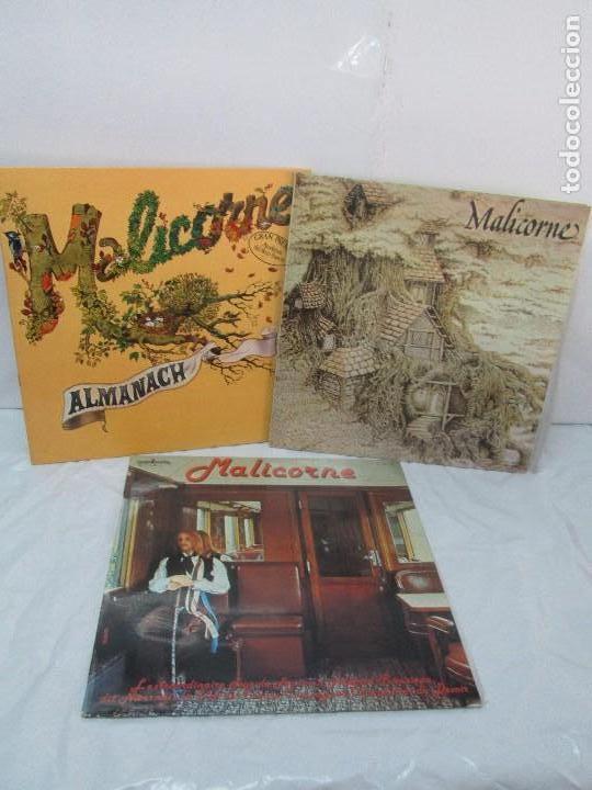 MALICORNE. ALMANACH... TRES DISCOS VINILO. VER FOTOGRAFIAS ADJUNTAS (Música - Discos - Singles Vinilo - Canción Francesa e Italiana)