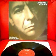 Discos de vinilo: LEONARD COHEN-VARIOUS POSITIONS.CBS.LP.1984 SPAIN. Lote 94134130