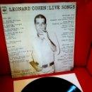 Discos de vinilo: LEONARD COHEN-LIVE SONGS.CBS. SPAIN . Lote 94135045