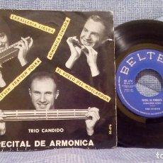 Discos de vinilo: TRIO CANDIDO - RECITAL DE ARMONICA - CABALLERIA LIGERA + 3 - EP SPAIN 1961. Lote 94187530