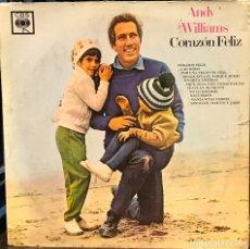 Discos de vinilo: LP ARGENTINO DE ANDY WILLIAMS AÑO 1969 Nº 2. Lote 94188695