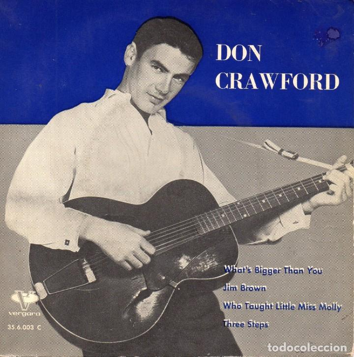 DON CRAWFORD, EP, WHAT´S BIGGER THAN YOU + 3, AÑO 1962 (Música - Discos de Vinilo - EPs - Pop - Rock Internacional de los 50 y 60	)