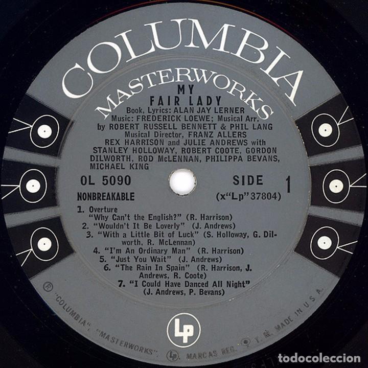 Discos de vinilo: LP estadounidense My fair lady año 1956 versión teatral - Foto 3 - 94189790
