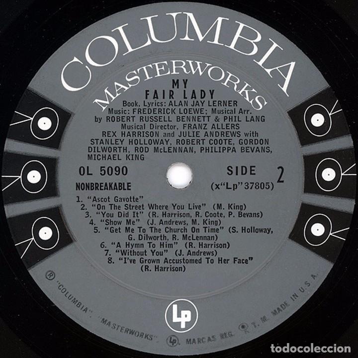 Discos de vinilo: LP estadounidense My fair lady año 1956 versión teatral - Foto 4 - 94189790