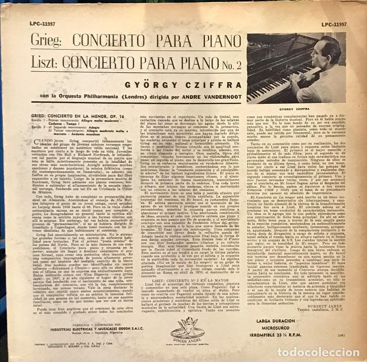 Discos de vinilo: LP argentino de Orquesta Philarmonia de Londres año 1959 - Foto 2 - 94190455