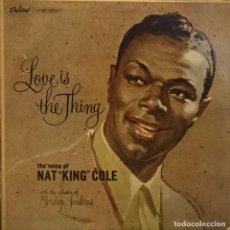 Discos de vinilo: LP URUGUAYO DE NAT KING COLE AÑO 1957 . Lote 94190705