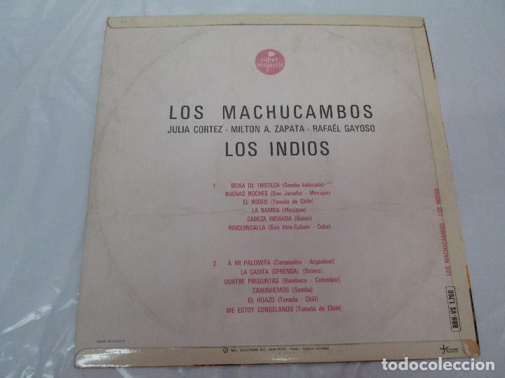 Discos de vinilo: LOS MACHUCAMBOS. LOS INDIOS. MAVOTAPE 1963. DISCO VINILO. VER FOTOGRAFIAS ADJUNTAS - Foto 8 - 94194165