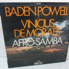 Disques de vinyle: BADEN POWEL AND VINICUS DE MORAËS. AFRO-SAMBA. MOVIEPLAY. 1972. DISCO DE VINILO. VER FOTOS. Lote 94194555