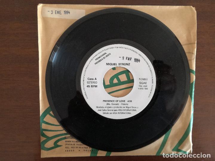 MIGUEL STRONZ, PRESENCE OF LOVE (AREA INTERNATIONAL) SINGLE PROMOCIONAL ESPAÑA (Música - Discos - Singles Vinilo - Disco y Dance)