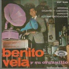 Discos de vinilo: BENITO VELA (ORGANILLO) EP SELLO MOVIEPLAY AÑO 1967 EDITADO EN ESPAÑA. Lote 94276505