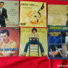 Discos de vinilo: LOTE 6 : JOSE GUARDIOLA-NARCISO YEPES-CARMEN MORELL PEPE BLANCO-PALITO ORTEGA-LUISA FERNADEZ-PAYOS. Lote 94296394