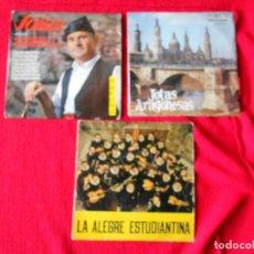 Discos de vinilo: LOTE 2 SINGLE JOTA ARAGONESA: (ENCARNITA RODRIGUEZ, GENARO DOMINGUEZ) + 1 TUNA FACULTAD DE BARCELONA. Lote 94296930