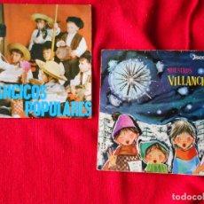 Discos de vinilo: LOTE 2 SINGLES - VILLANCICOS POPULARES, ESCOLANÍAS DEL STO. SACRAMENTO Y DE NTRA. SRA. MONTSERRAT. Lote 94297610