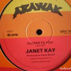 Discos de vinilo: JANET KAY – CLOSER TO YOU REGGAE 1979. Lote 94324230