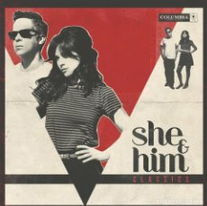 Discos de vinilo: LP SHE & HIM CLASSICS VINILO ZOOEY DESCHANEL M.WARD. Lote 94329254