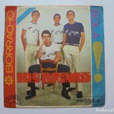 Discos de vinilo: LOS BRINCOS ''BORRACHO'' DEL AÑO 1965 VINILO DE 7'' SINGLE DE 2 CANCIONES. Lote 94334058