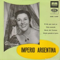 Discos de vinilo: IMPERIO ARGENTINA / EL DIA QUE NACI YO+ 3 (EP 1958). Lote 103915988