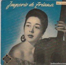 Discos de vinilo: IMPERIO DE TRIANA / CORAZON DE ARENA / LA CRUZ DE GUERRA + 2 (EP 1958). Lote 94376178