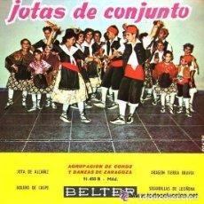 Discos de vinilo: AGRUPACIÓN DE COROS Y DANZAS DE EDUCACIÓN Y DESCANSO DE ZARAGOZA -JOTAS DE CONJUNTO - EP - 1960. Lote 94425458
