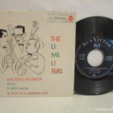 Discos de vinilo: THE LIMELITERS - TAN SOLO UN ERROR - JONAH + 2 - 1963 - EP - SPAIN - G/VG. Lote 94428842