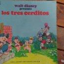 Discos de vinilo: WALT DISNEY PRESENTA LOS TRES CERDITOS. Lote 94456670