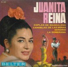 Discos de vinilo: JUANITA REINA / COPLAS DE MAGDALENA + 3 (EP 1965). Lote 103916019