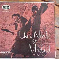 Discos de vinilo: UNA NOCHE EN MADRID, ONE NIGHT IN MADRID, PRINTED IN USA. Lote 94459970