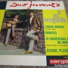 Discos de vinilo: DUO JUVENTS - PLEASE, PLEASE ME + 3 ****** RARO EP 1964 VERSIÓN BEATLES. Lote 94476150