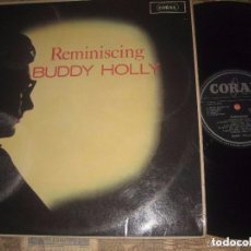 Discos de vinilo: BUDDY HOLLY REMINISCING (CORAL-1963)ORIGINAL ENGLAND EXCELENTE ESTADO ROCKABILLY 50S. Lote 94499722