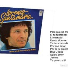Discos de vinilo: LP LORENZO SANTAMARÍA. Lote 94502134