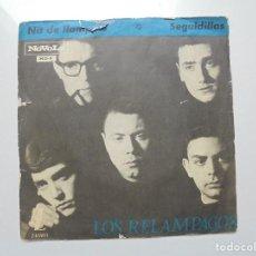 Discos de vinilo: LOS RELAMPAGOS ''NIT DE LLAMPECS'' AÑO 1965 VINILO DE 7'' ES UN SINGLE FR DOS CANCIONES. Lote 94517942