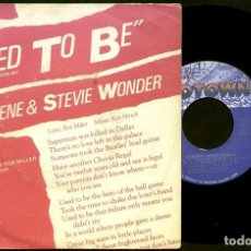 Discos de vinilo: CHARLENE & STEVIE WONDER - USED TO BE / I WANT TO COME BACK AS SONG - SPAIN SINGLE MOTOWN 1982. Lote 94528842