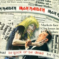 Discos de vinilo: IRON MAIDEN - BE QUICK OR BE DEAD 1992 EMI 20 4764 6. Lote 94533982