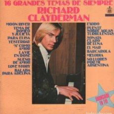 Discos de vinilo: RICHARD CLAYDERMAN - 16 GRANDES TEMAS DE SIEMPRE - LP DELPHINE RECORDS 1979 RF-3616. Lote 94547159